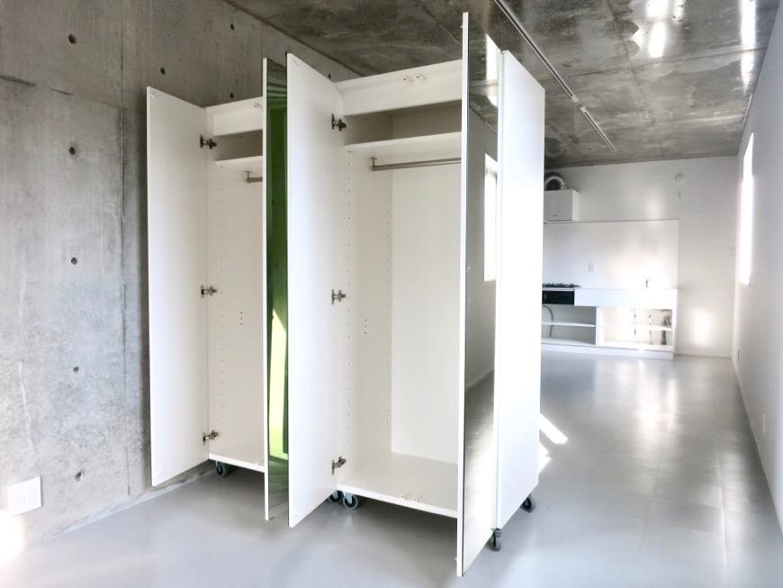 白壁ふたば荘 B,Dtype 可動式クローゼット設置。