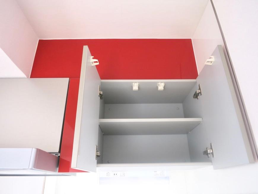 Room) AZUR JOSAI 4B  キッチンスペース上部収納。6