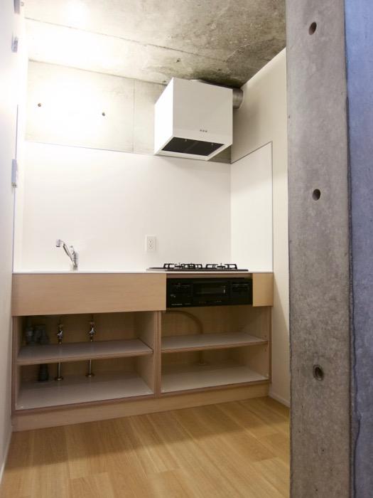 白壁ふたば荘 Atype 独立したキッチン空間。