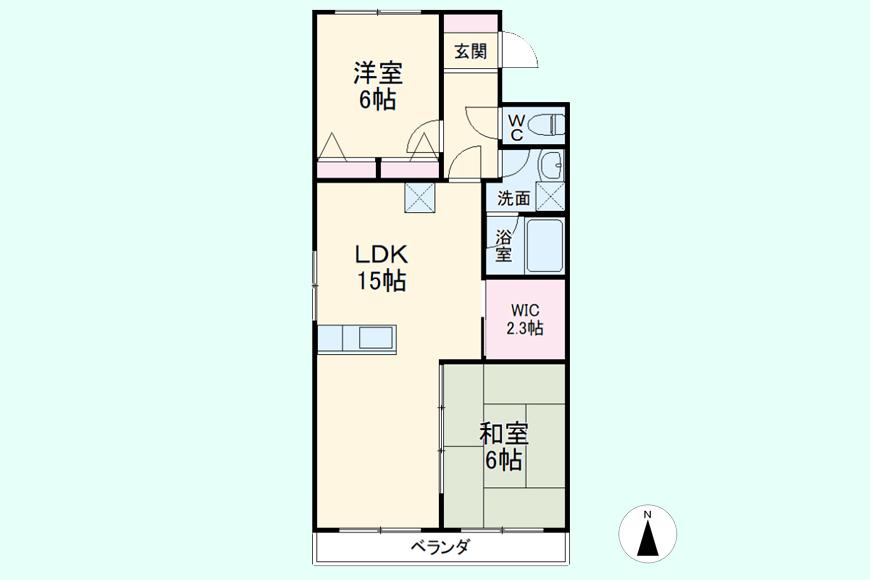 【キャッスル東栄】B棟_302号室_間取り図
