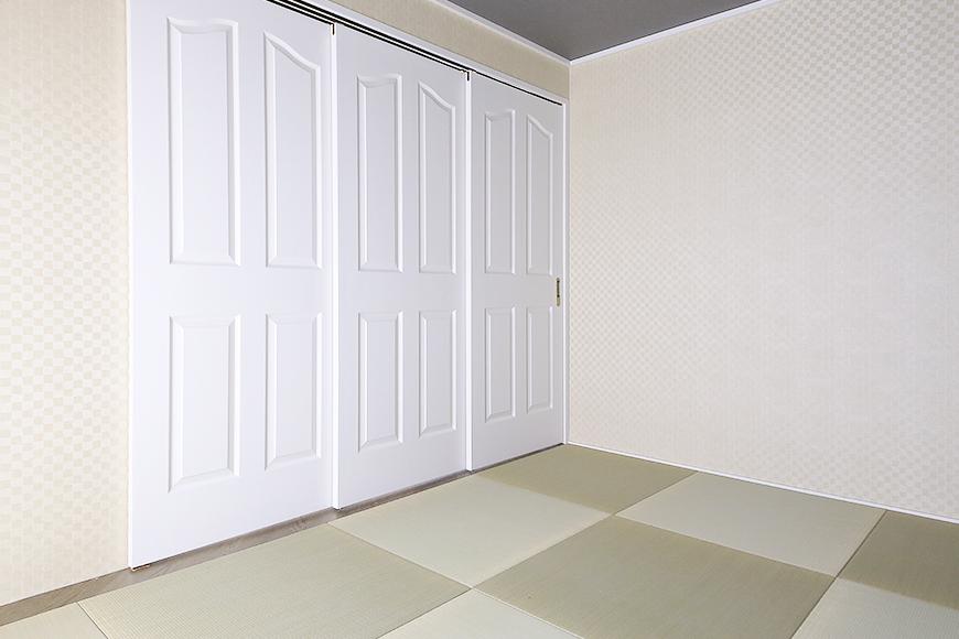 【キャッスル東栄】B棟_302号室_和室_洋の建具と和の畳のマッチング_MG_2491b
