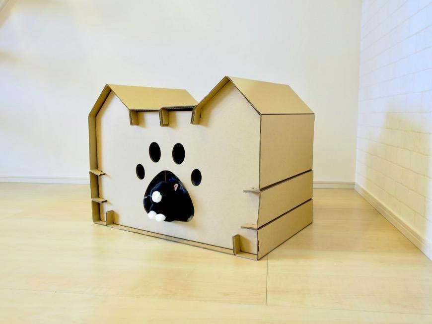 猫の家(つめとぎプレゼント)【Le Cat】猫の為の猫専用賃貸住宅。70