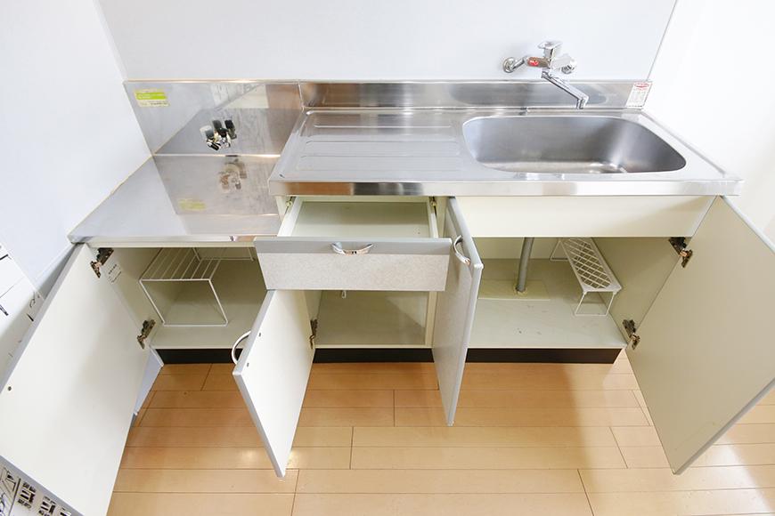【NEXTAGE B】205号室_DK_キッチン全景_足もと収納_MG_0240