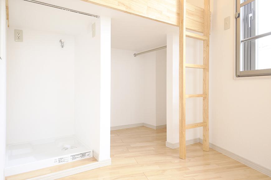 【Maisorie車道】_ロフト下部と室内洗濯機置き場_MG_6690