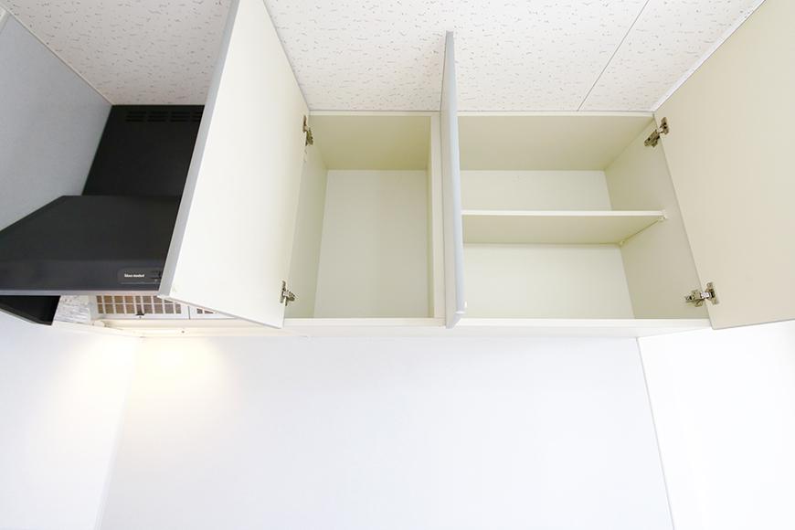 【NEXTAGE B】205号室_DK_キッチン周り_レンジフード・頭上収納_MG_0250