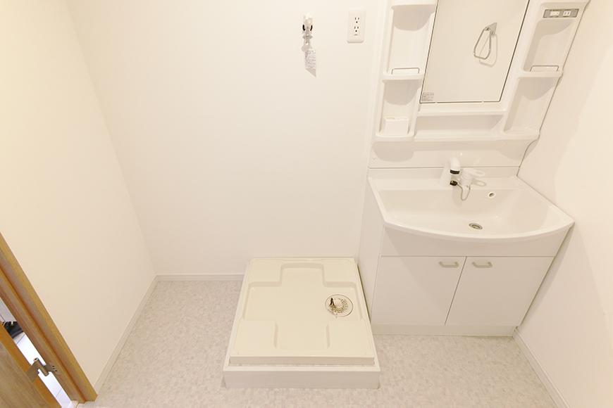 【フェリーチェ】405号室_水周り_室内洗濯機置き場・独立洗面台_MG_9729