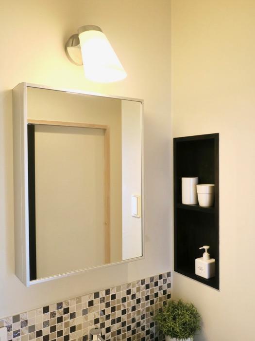 モザイクタイルが素敵なサニタリールーム。神田ヴィレッジ中川702号室2