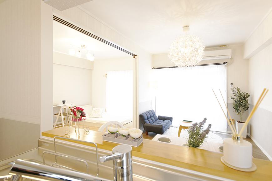 【キャッスル東栄】B棟302号室_LDK_キッチンからの眺め_MG_0530
