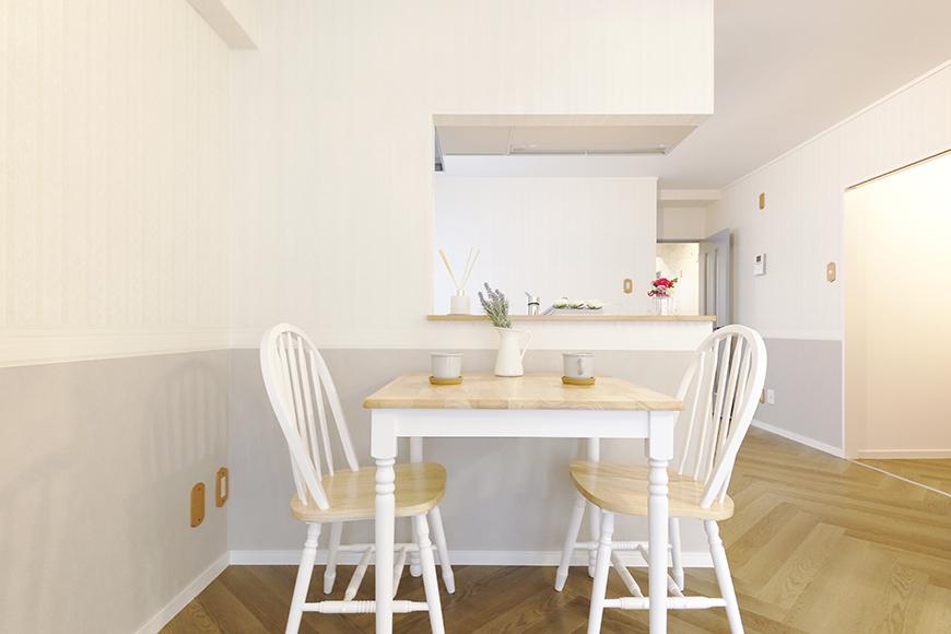 【キャッスル東栄】B棟302号室_LDK_キッチンそばにダイニングテーブルを_MG_0746