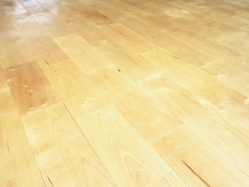 パーチ(白樺)の無垢の床。TOMOS メイプルハウス201号室7