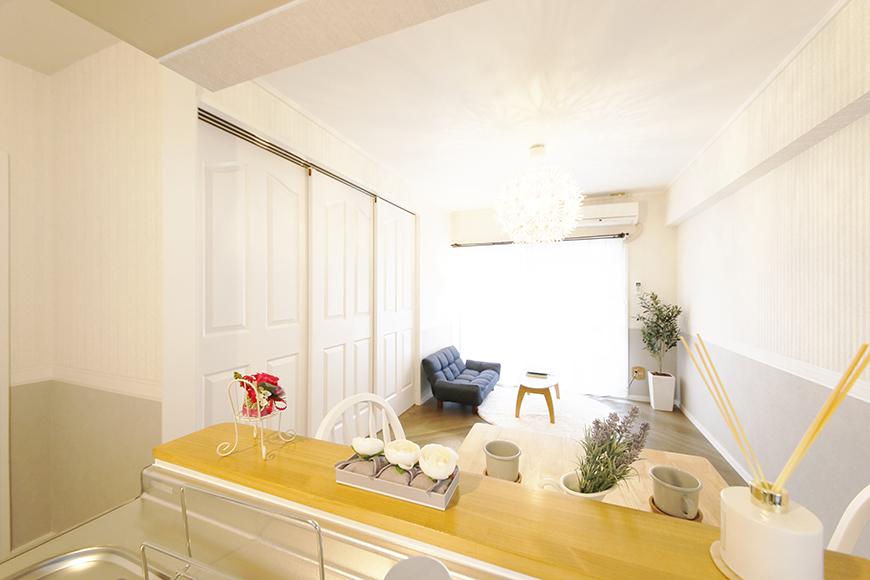【キャッスル東栄】B棟302号室_LDK_キッチンからの眺め_MG_0686