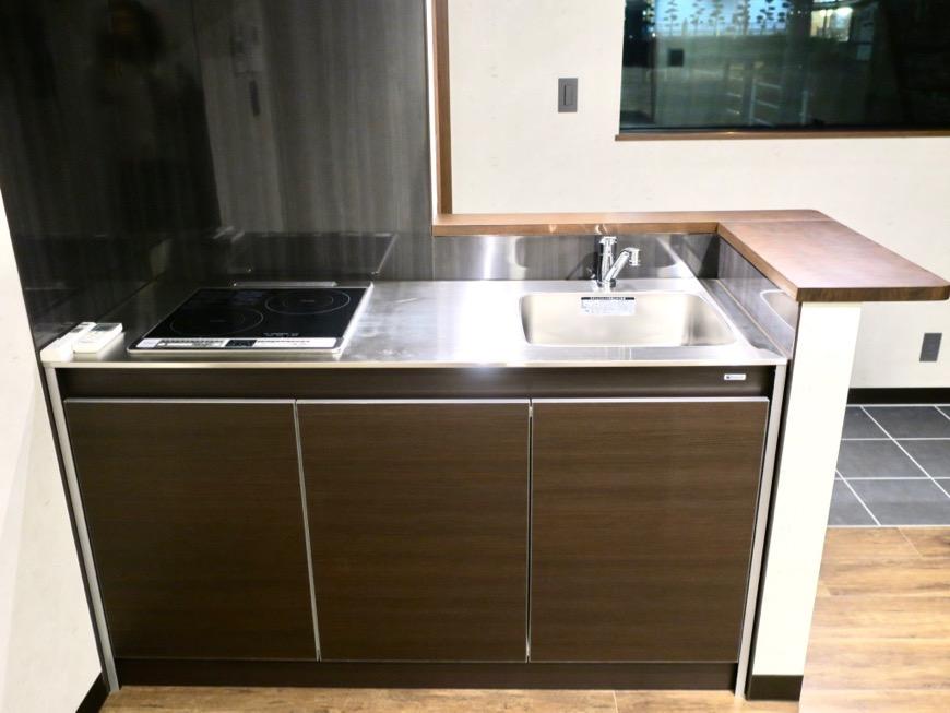 キッチン台 ブルックリンカフェ風アパートメント。ESPRESSO清須1A号室1