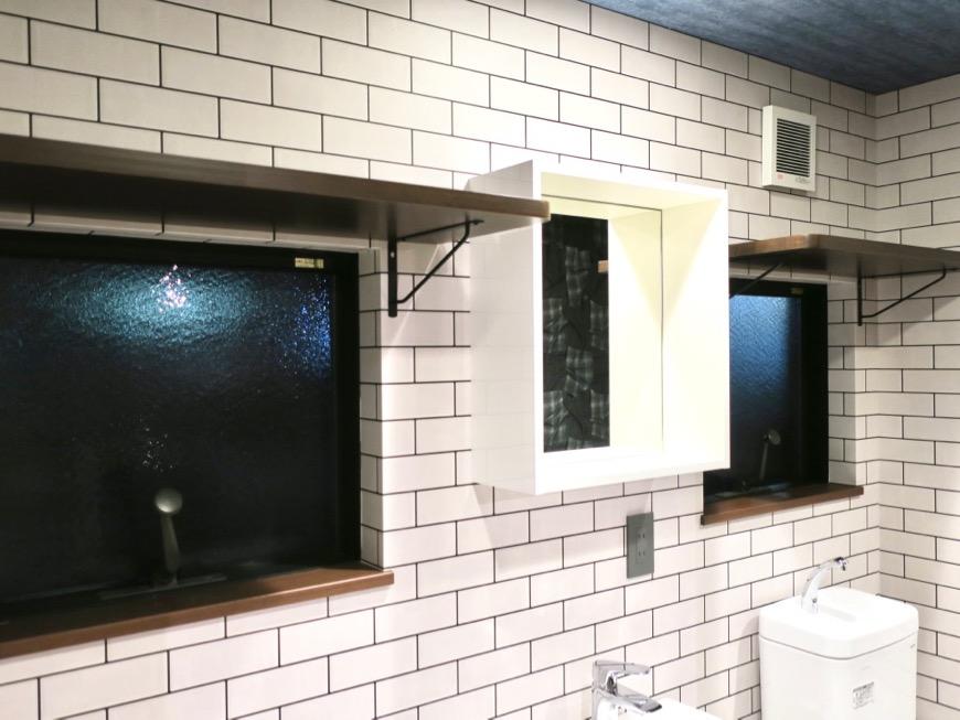 サニタリー&バスルーム ブルックリンカフェ風アパートメント。ESPRESSO清須1A号室4