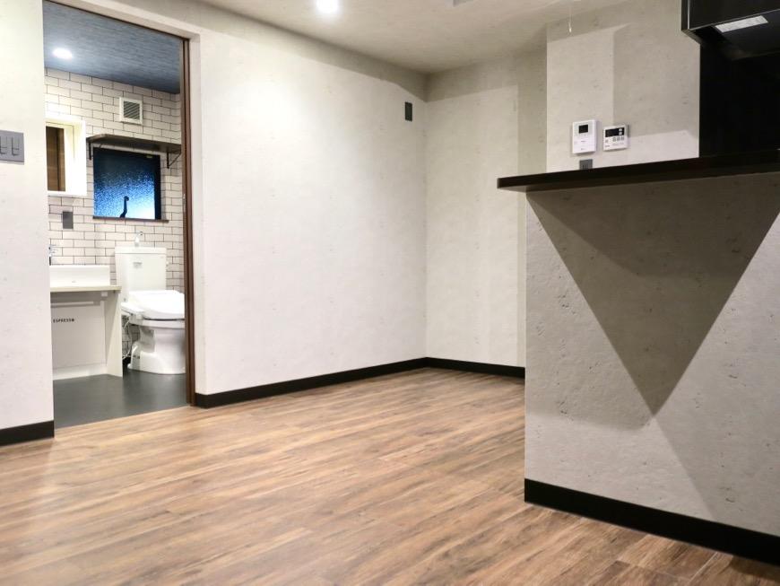 ブルックリンのカフェのようなリビング。ESPRESSO清須1A号室17