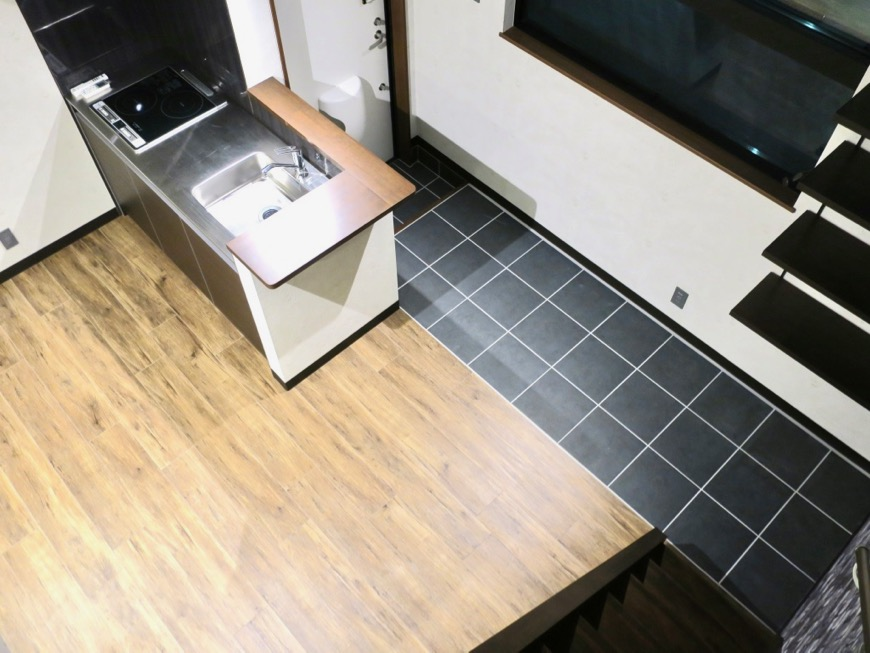 ロフトからの眺め。 ブルックリンカフェ風アパートメント。ESPRESSO清須1A号室3
