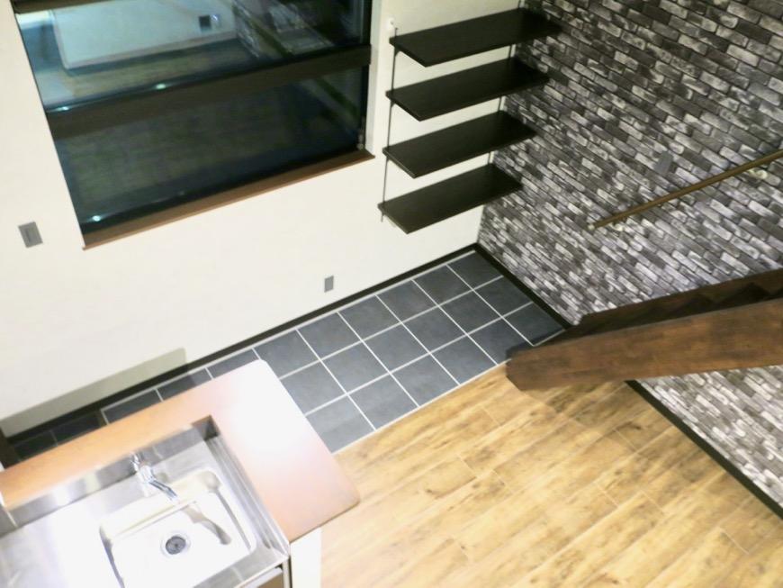 ロフトからの眺め。 ブルックリンカフェ風アパートメント。ESPRESSO清須1A号室1