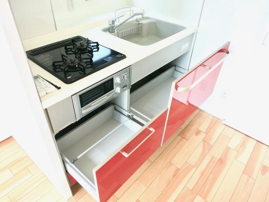 上皮でお洒落なキッチン台。AZUR JOSAI 3B 0