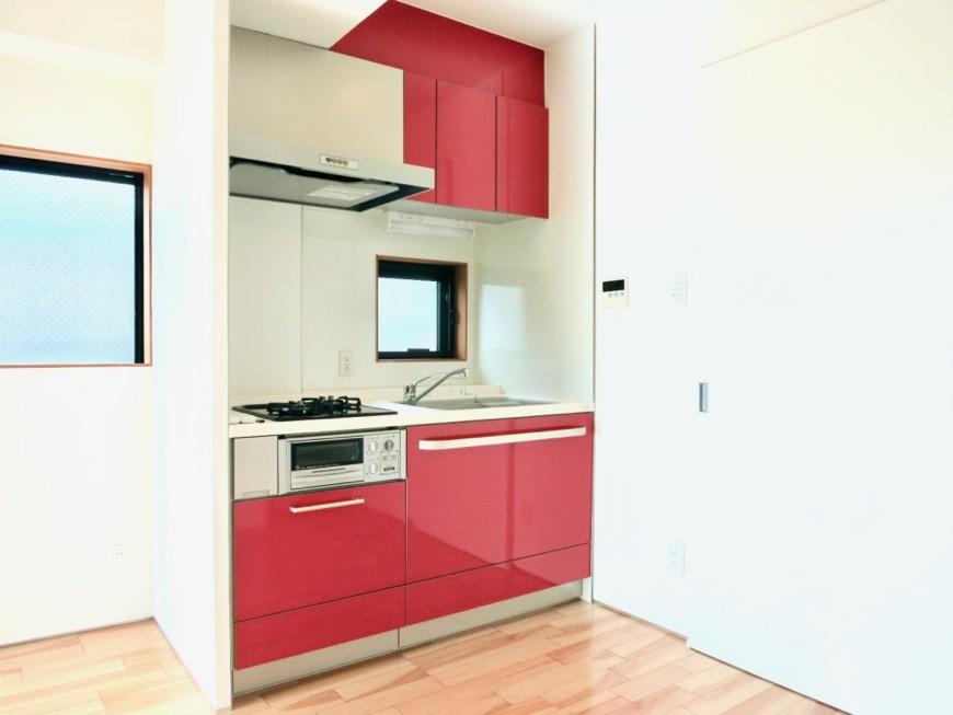 上品で鮮やかなキッチン台_0238
