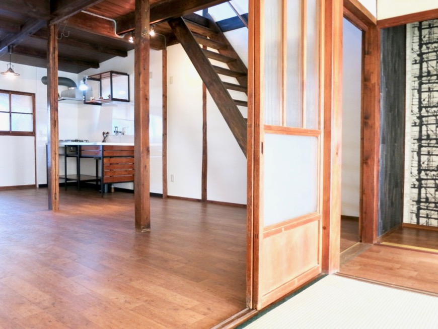 LDK 和の台所。古民家風戸建てリノベーション。BB Style~SAKIGAKE~5