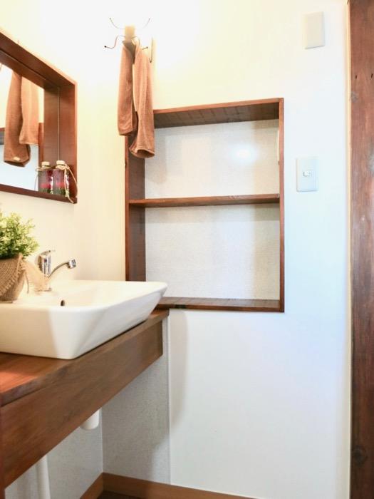 水回り。洗面スペースは和風モダン。古民家風戸建てリノベーション。BB Style~SAKIGAKE~3