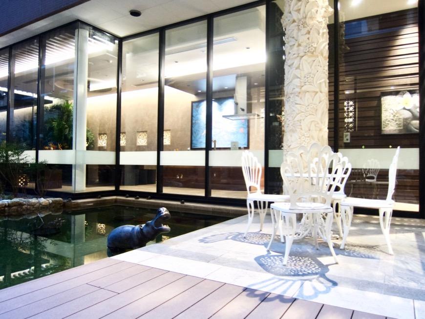 共用スペース。中庭がある賃貸マンション ロイヤルパークスERささしま IMG_0123