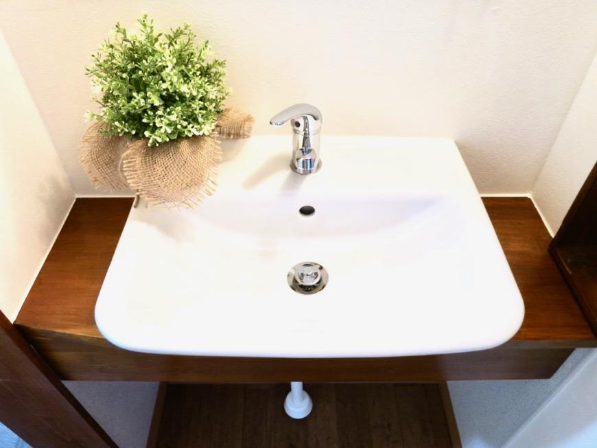 水回り。洗面スペースは和風モダン。古民家風戸建てリノベーション。BB Style~SAKIGAKE~2