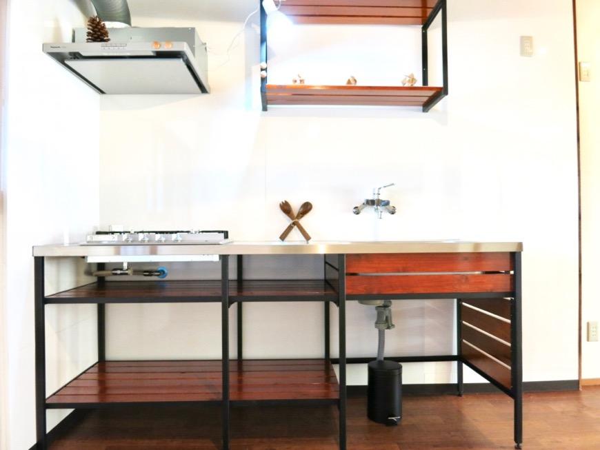 台所はシムテムキッチン。古民家風戸建てリノベーション。BB Style~SAKIGAKE~0
