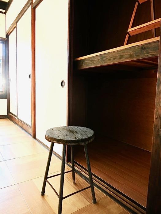 2階。押入れと、押し入れからロフト。古民家風戸建てリノベーション。BB Style~SAKIGAKE~4