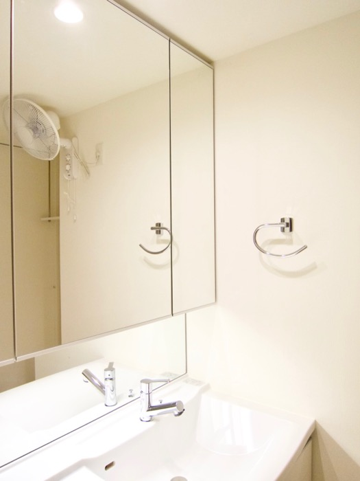 清潔感あふれるサニタリー&バスルーム。コンシェルジュがいる賃貸マンション。ロイヤルパークスERささしま3