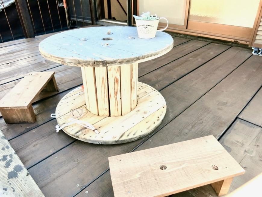 2階。広い縁側のようなウッドデッキのバルコニー。古民家風戸建てリノベーション。BB Style~SAKIGAKE~4
