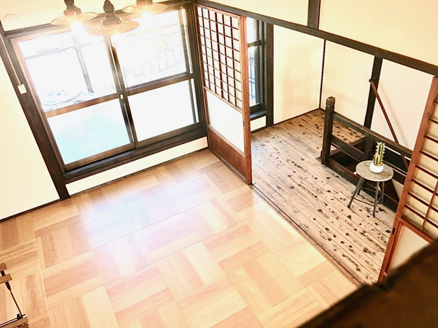 2階。屋根裏 ロフトからなの景色。古民家風戸建てリノベーション。BB Style~SAKIGAKE~4