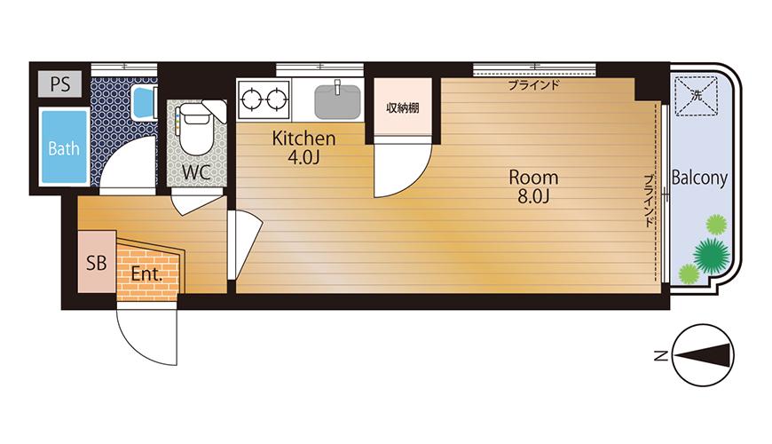 Ma Chambre Fuji_406_間取図