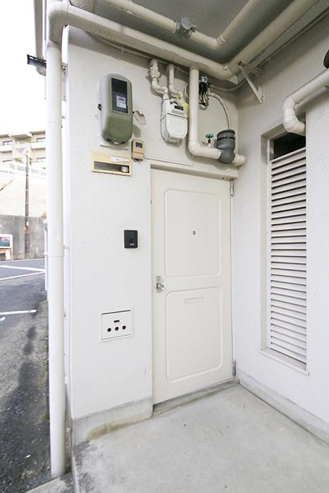 本山【平和第2マンション】1A号室_玄関周り_MG_4981