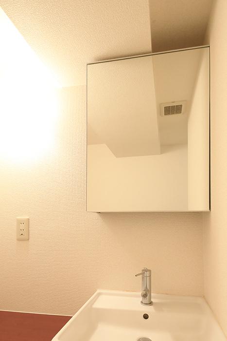 【ビアンカーサ】605号室_水回り_独立洗面台_窓の裏の収納_MG_8217