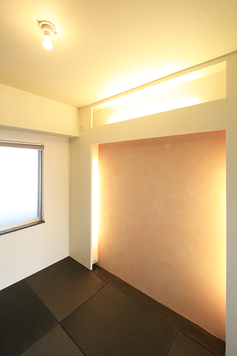 上小田井【SK BUILDING 7】705号室_和室_照明を点けるとこんな雰囲気に_MG_3558