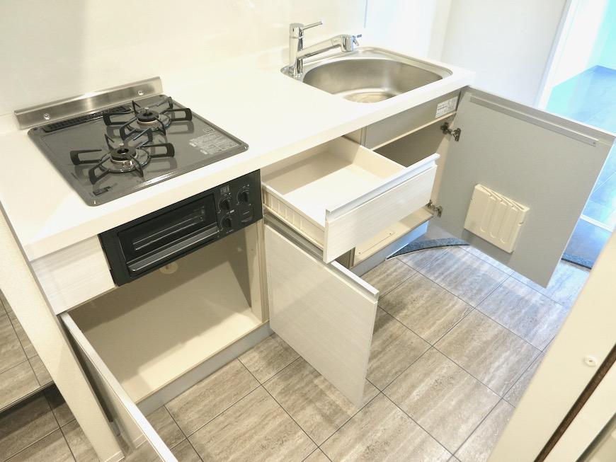 スマートなキッチン台。外観・共有 unroom404号室3