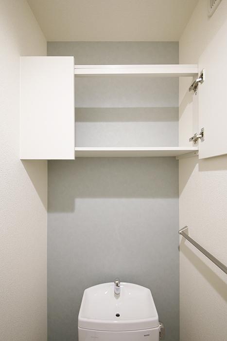 勝川【Parfum(パルファン)】101号室_トイレ_頭上の収納棚_MG_4351
