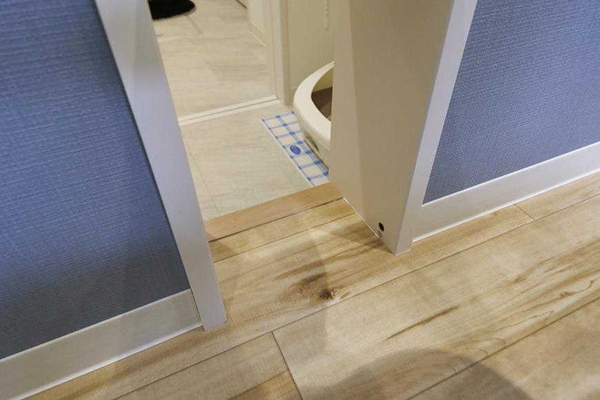 西尾市【モフズヴィラ(Mofz Villa Imagawa)】106号室_洋室とトイレを繋ぐネコ専用ドア_MG_6193