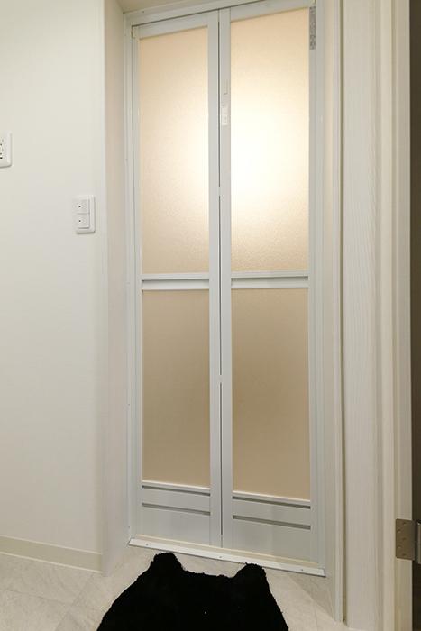 西尾市【モフズヴィラ(Mofz Villa Imagawa)】106号室_サニタリールーム_バスルームへのドア_MG_6041