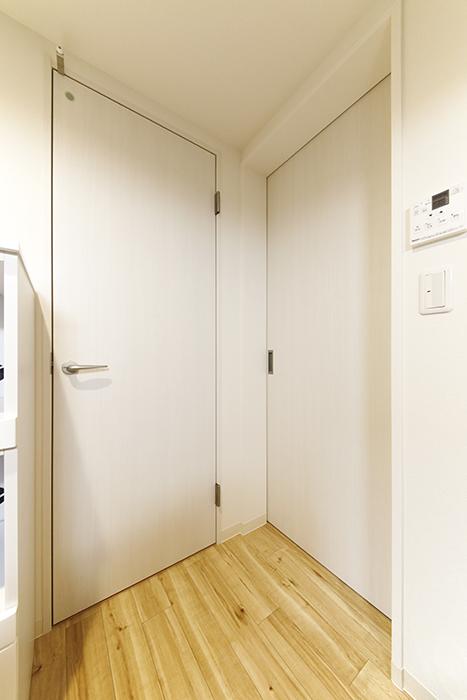 西尾市【モフズヴィラ(Mofz Villa Imagawa)】106号室_サニタリールームへのドア・玄関からのドア_MG_5980