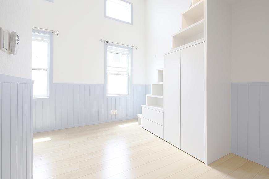 白い壁に水色がかわいらしい雰囲気♡_MG_4450