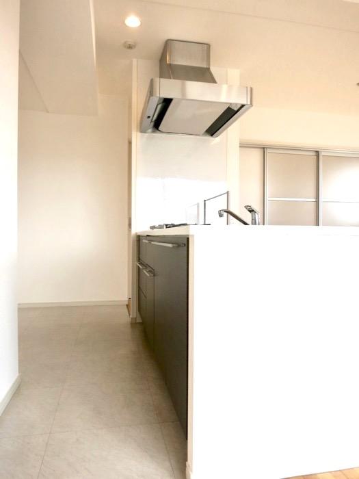 LDK11帖。キッチン台 おしゃれなキッチンのある暮らし。 Hermmitage SHINSAKAE エルミタージュ新栄 1005号室 2