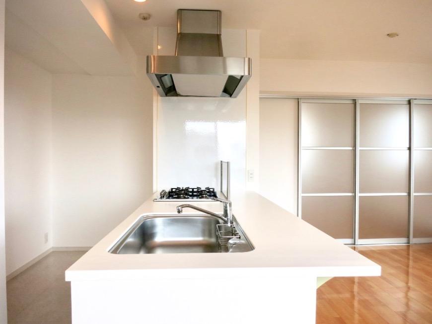 LDK11帖。キッチン台 おしゃれなキッチンのある暮らし。 Hermmitage SHINSAKAE エルミタージュ新栄 1005号室 6