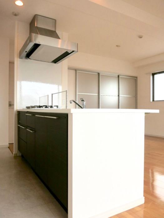 LDK11帖。キッチン台 おしゃれなキッチンのある暮らし。 Hermmitage SHINSAKAE エルミタージュ新栄 1005号室 0
