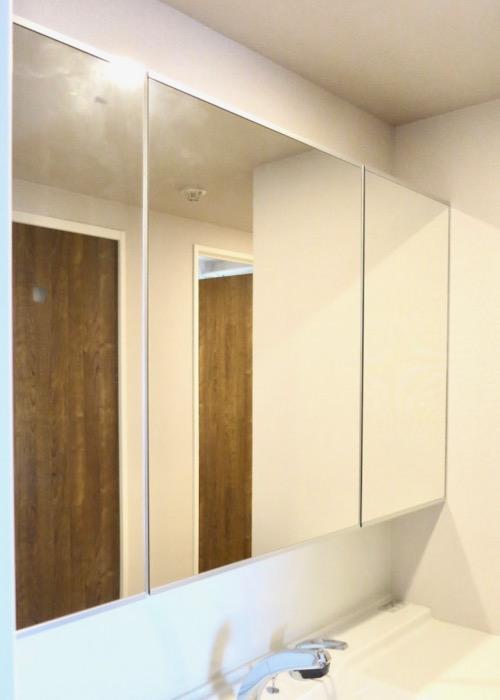 サニタリールーム。出入り口が2つ。広々してます。 ASKA HILLS 13