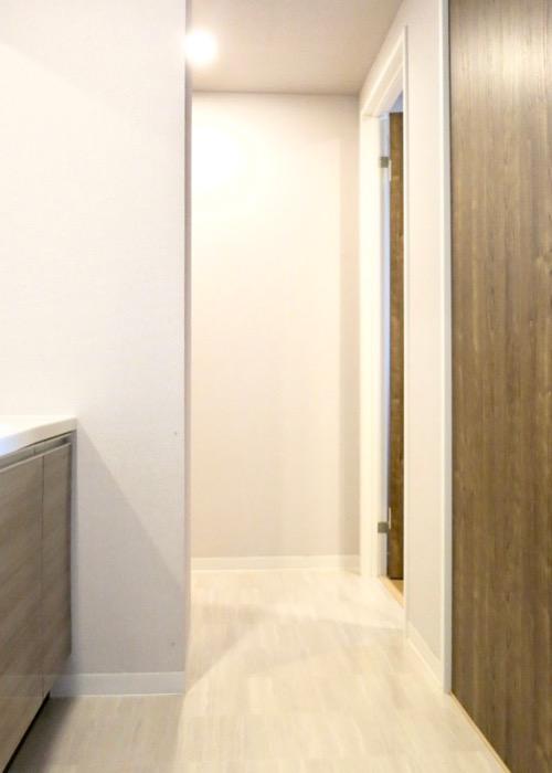 サニタリールーム。出入り口が2つ。広々してます。 ASKA HILLS 3
