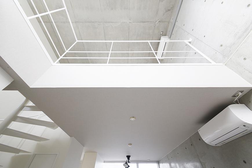 【M/F HOUSE】008号室_LDKからメゾネットタイプの洋室を見上げる_MG_3704