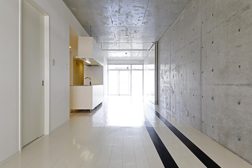 【M/F HOUSE】001号室_LDKと洋室の仕切りドアをOPEN_MG_3003