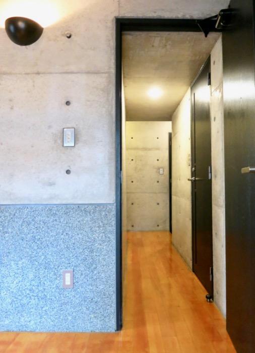 5.5帖洋室 大磯洗い出しの腰壁 コンクリートハウス 風か吹き抜ける美しい要塞。218 HOUSE 2D号室4