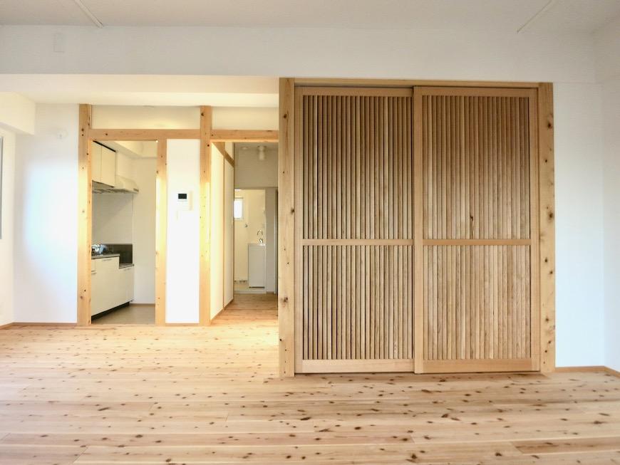 天然木が広がるお部屋。インターシティ黒川901号室46